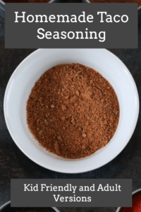 Homemade Taco Seasoning (Kid-friendly and Adult versions) - Reclaiming Vitality #maketacoseasoning