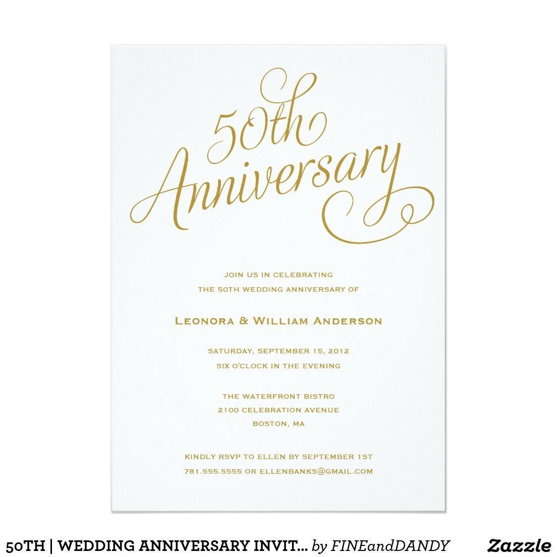 50th | wedding anniversary invitations | 50th wedding anniversary ...