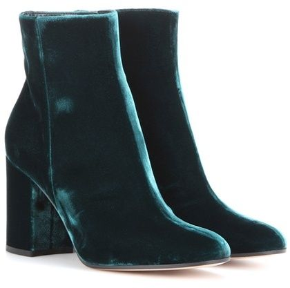 Gianvito Rossi Rolling 85 Velvet Ankle Boots   Kicks   Boots, Shoes ... 88179aa9be