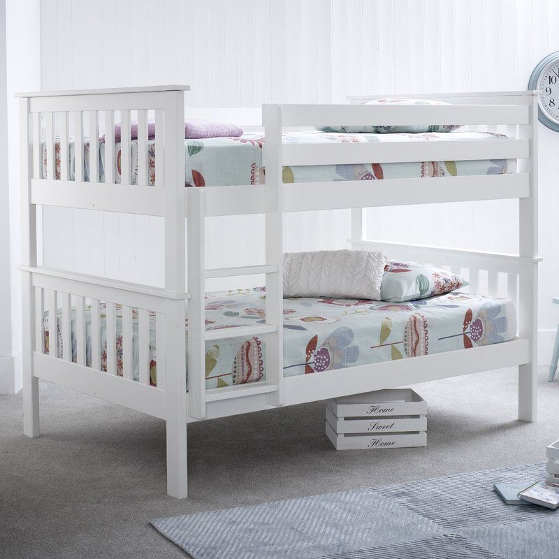 Weston Lee Small Double Bunk Bed White Bunk Beds Cool Bunk Beds