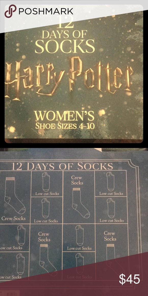 harry potter 12 days of christmas socks crew and low cut variety of harry potter socks target llc accessories hosiery socks
