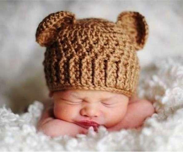 Cappellini E Cuffiette A Maglia Per Neonati Cappellino Con Le
