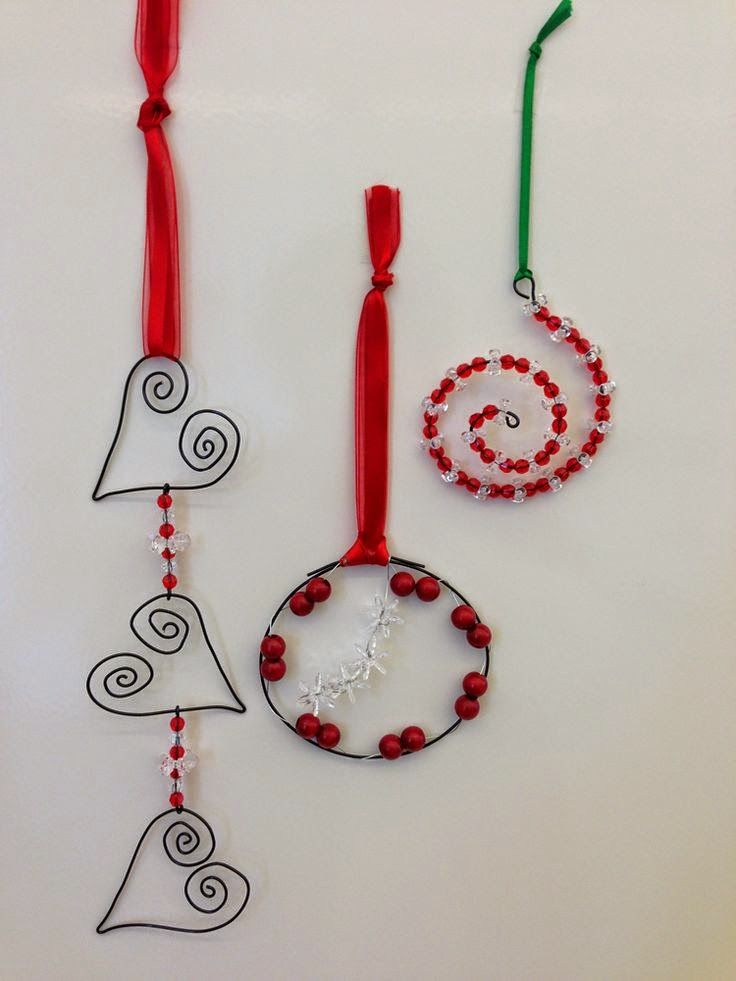 Christmas ornaments - wire art simple | Christmas Tree Decor ...