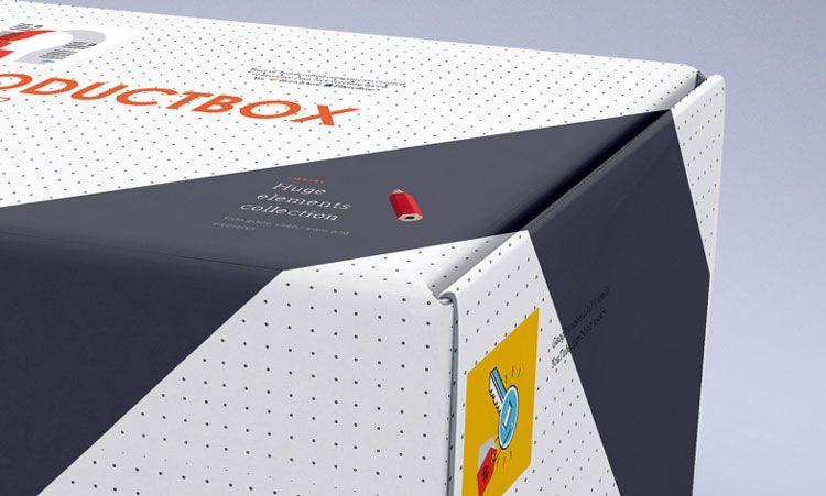 Download Big Carton Box Free PSD Mockup