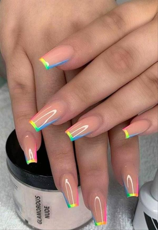 76 Charming Acrylic Nails for Long Nails and Short Nails - The First-Hand Fashion News for Females