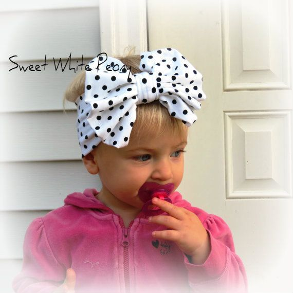 Baby Big Bow Headbands Bowknot Printed Kids Girl Headwrap Soft Cotton Hairband