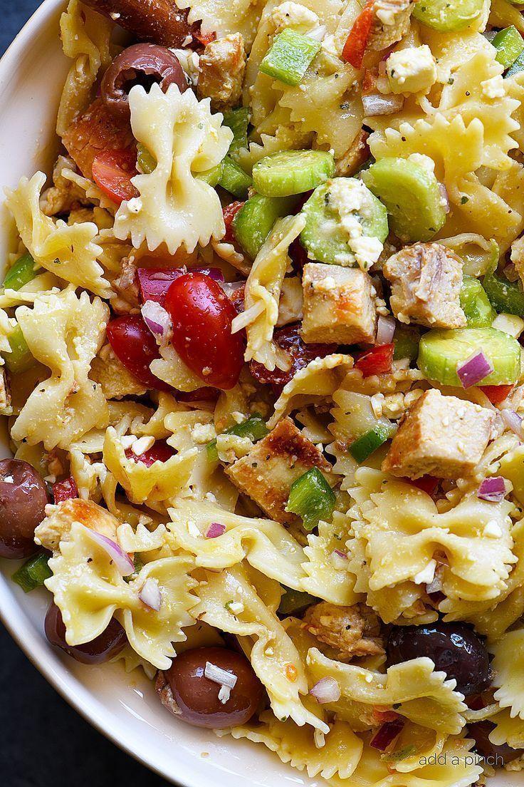 Greek Chicken Pasta Salad Recipe This Easy Pasta Salad Recipe Is