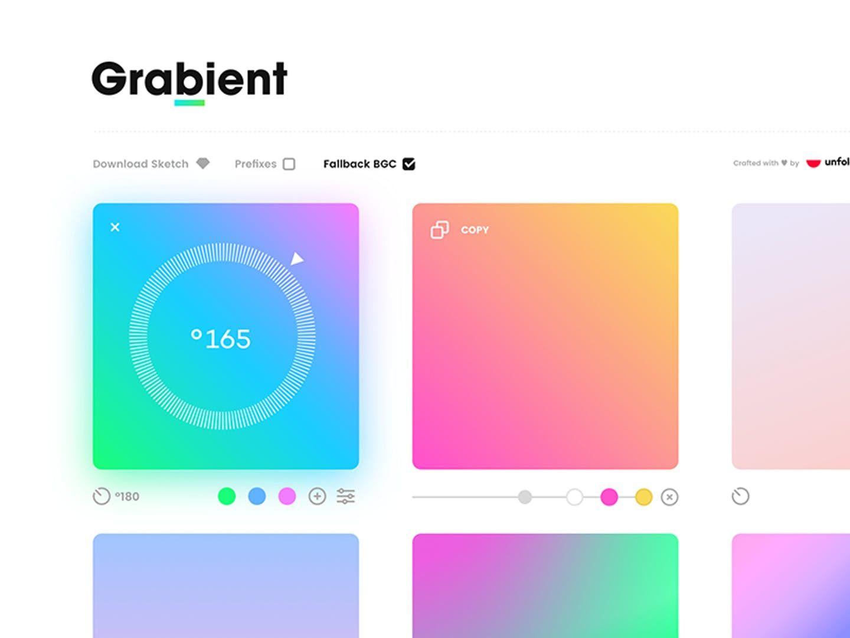 ui ux grabient grab a gradient design tools developer tools and tech - Ui Designer Tools