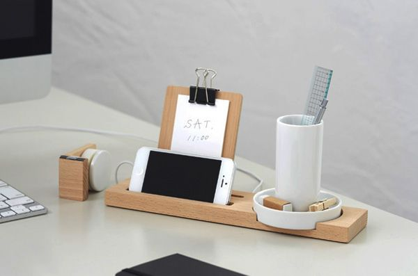20 Crazy Cool Desk Organizers For Your Inspiration Hongkiat Desk Organization Diy Wooden Desk Organizer Desk Organizers