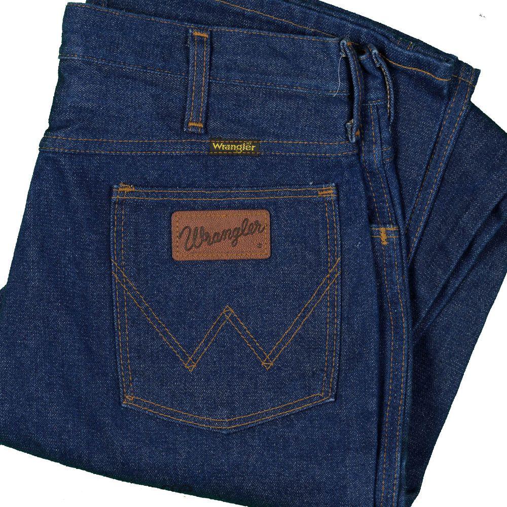 wrangler jeans vintage dark indigo no fault 945 denim made usa ideal zip 33x33 wrangler. Black Bedroom Furniture Sets. Home Design Ideas