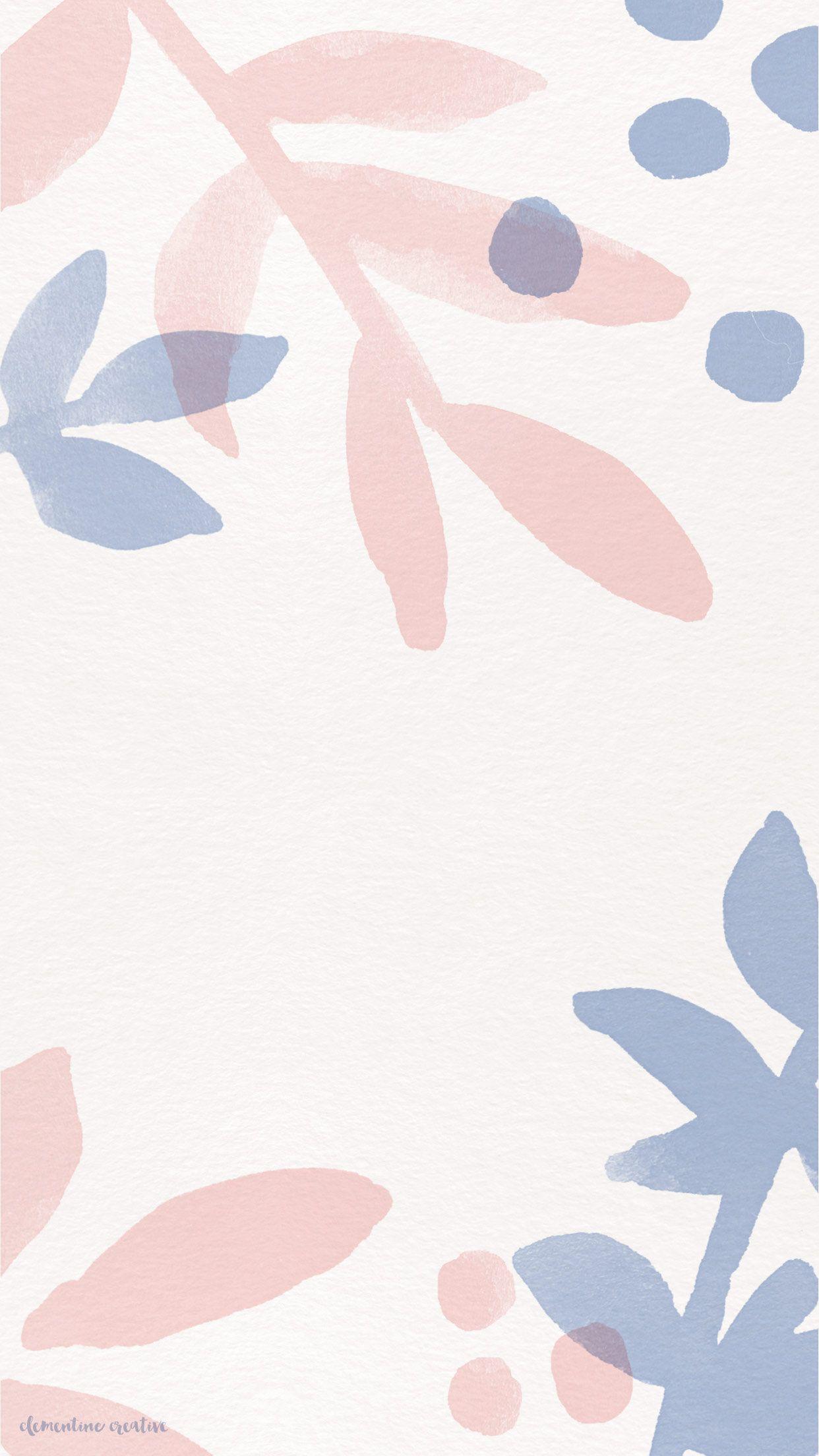 Blush pink lilac lavender watercolour texture iphone