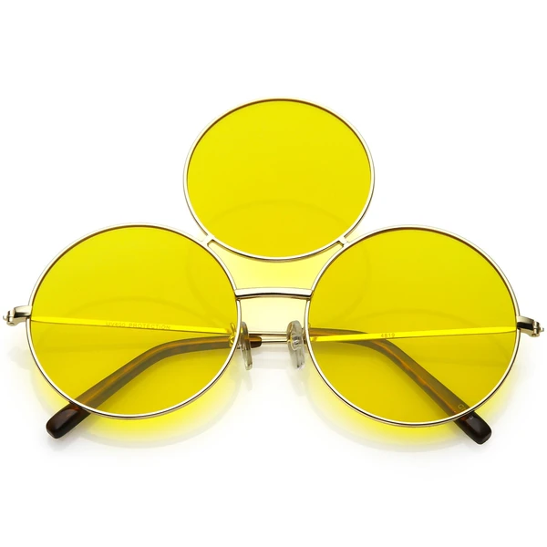 The Flat Triangle Sunglasses Yellow Lenses Sunglasses Vintage Sunglasses