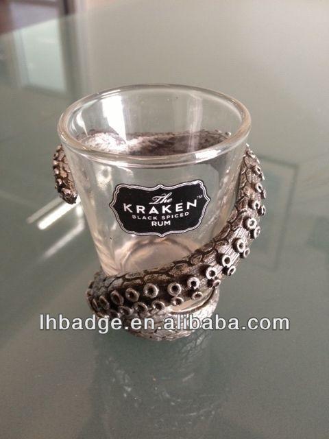 Kraken Rum Tentacle Shot Glass Cup,Metal Craft Holder Glass Cup ...