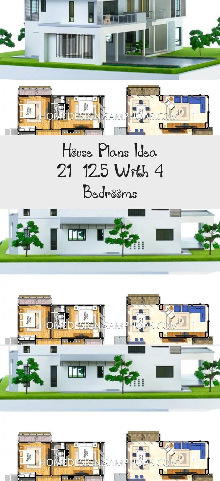 House Plans Idea 21x12 5 With 4 Bedrooms Home Ideassearch Cottagefloorplans Largefloorplans Floorplansdesign In 2020 House Plans Cottage Floor Plans Floor Plans