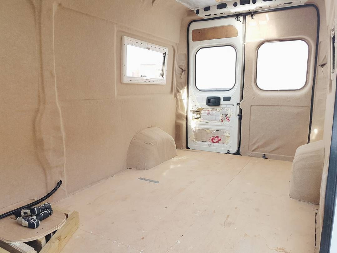 104 Likes 3 Comments April Shane Adventuresinacamper On Instagram Back To Working On The Van The Fi Van Wall Campervan Interior Van Conversion Walls