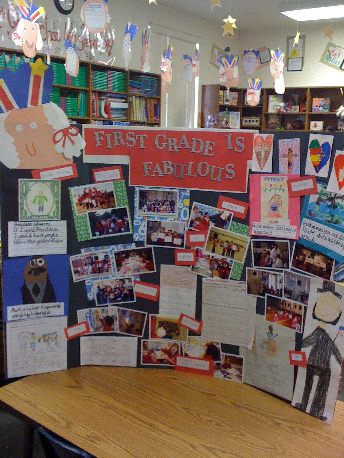 Classroom Presentation Ideas ~ A first grade presentation board i put together for our
