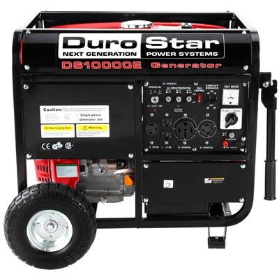 Rv Portable Generator 10 000 Watts Durostar 16 0 Hp Electric Start And Wheel Kit Order By Phone 951 708 1266 Features Heavy Duty Frame With Four Portable Generator Gas Generator Best Portable Generator