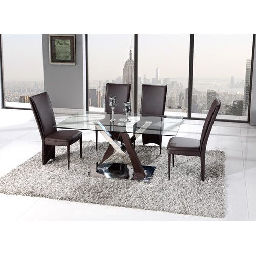 Found It At Allmodern Sloan Dining Table Global Furniture Furniture Taupe Dining Room