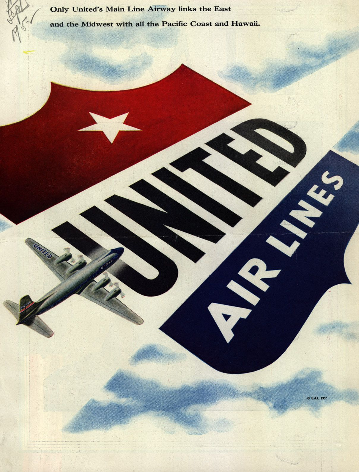 Voyage En Avion United Air Lines United Airlines Pinterest Voyage Avion And