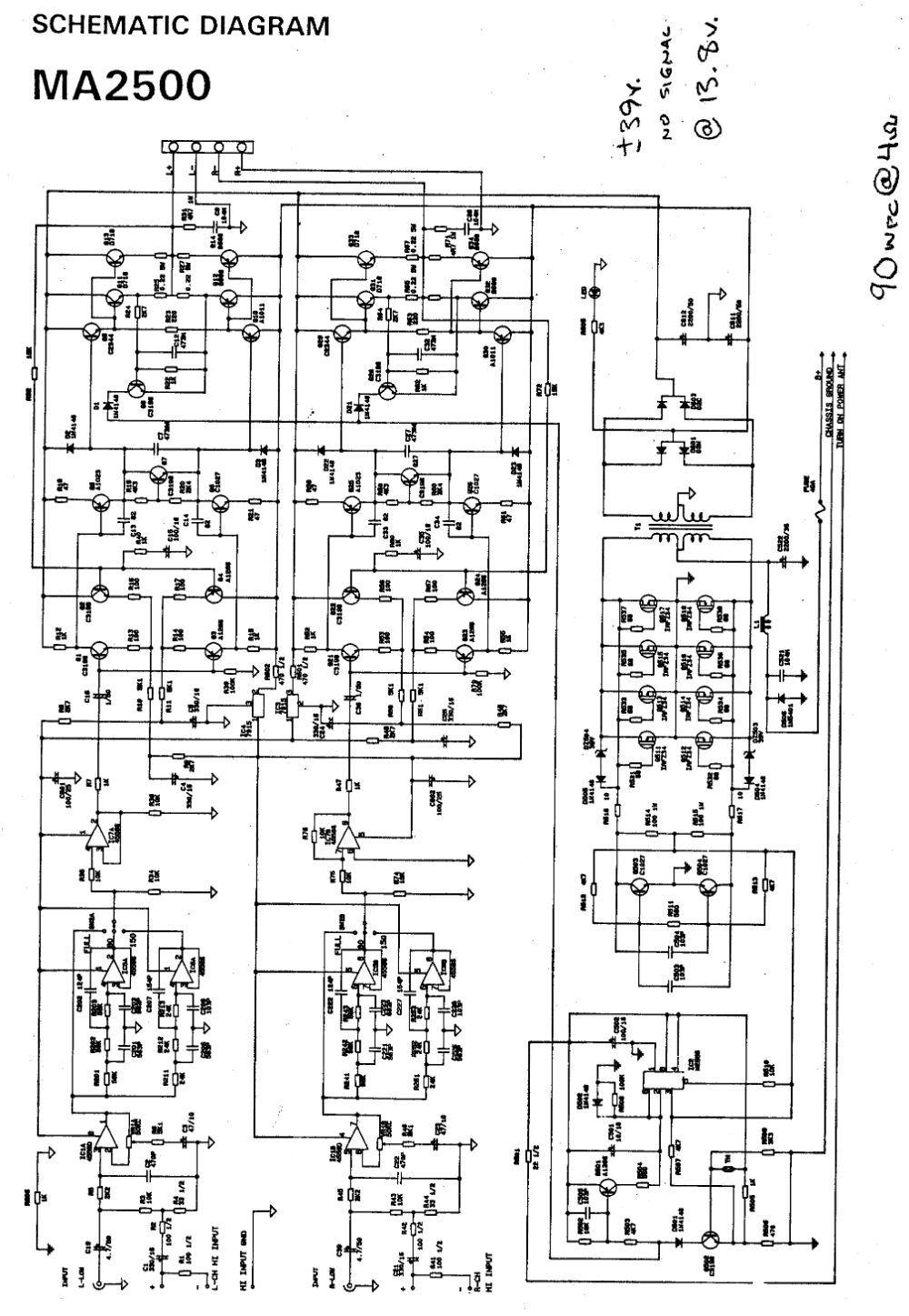 10000 Watts Power Amplifier Schematic Diagram Circuit