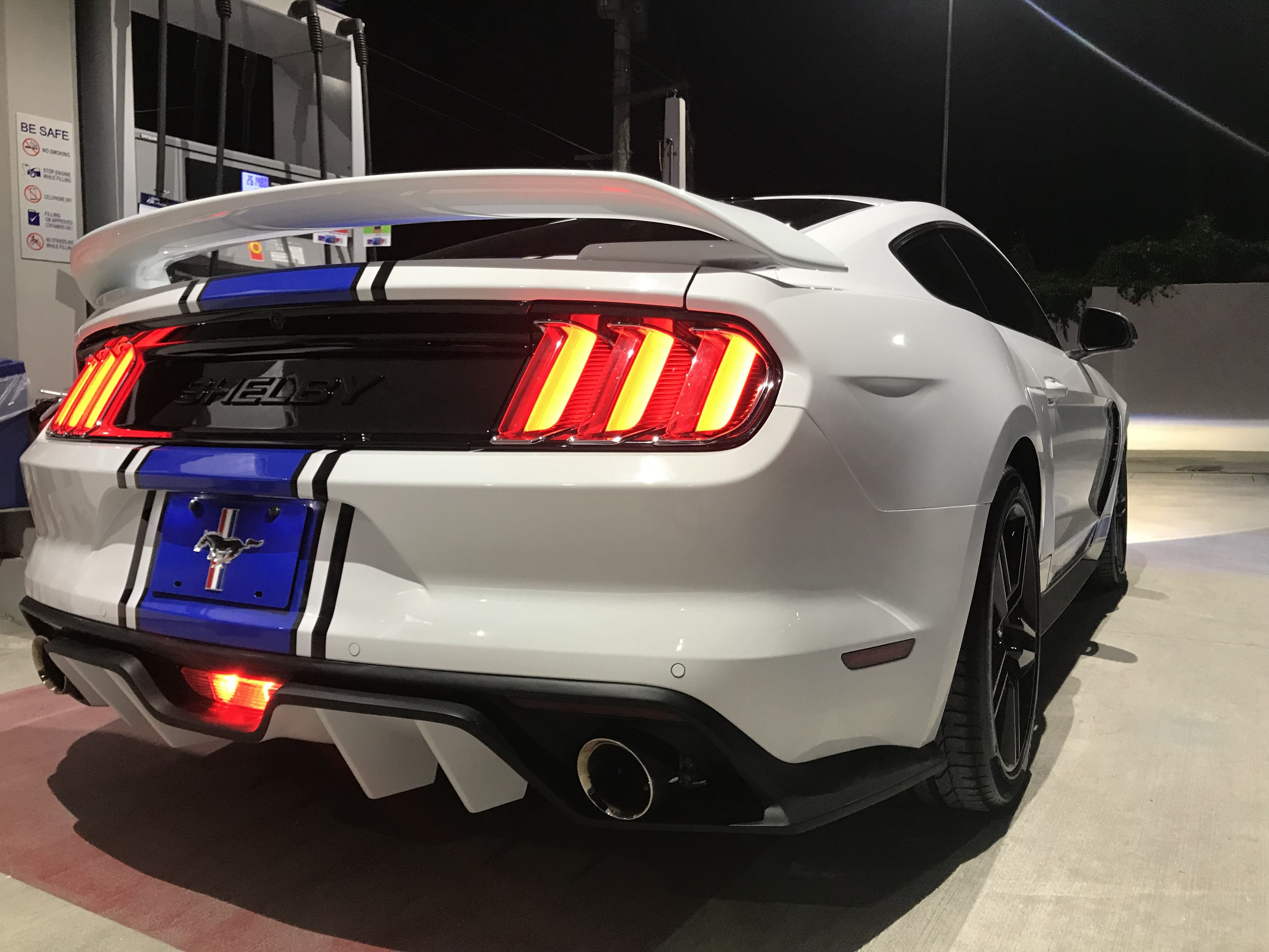 2015 2016 2017 Custom White Ecoboost Mustang Ecoboost Modified