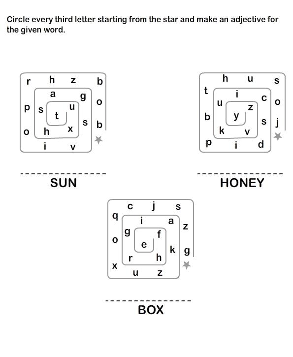 Describing Words Worksheet5 - esl-efl Worksheets - kindergarten ...