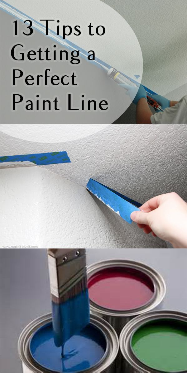 Tips to Getting a Perfect Paint Line Painting a straight line can be difficult and stressful. Check out these tips to get the perfect line every time!Painting a straight line can be difficult and stressful. Check out these tips to get the perfect line every time!