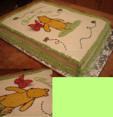 Classic Pooh Sheet Cake