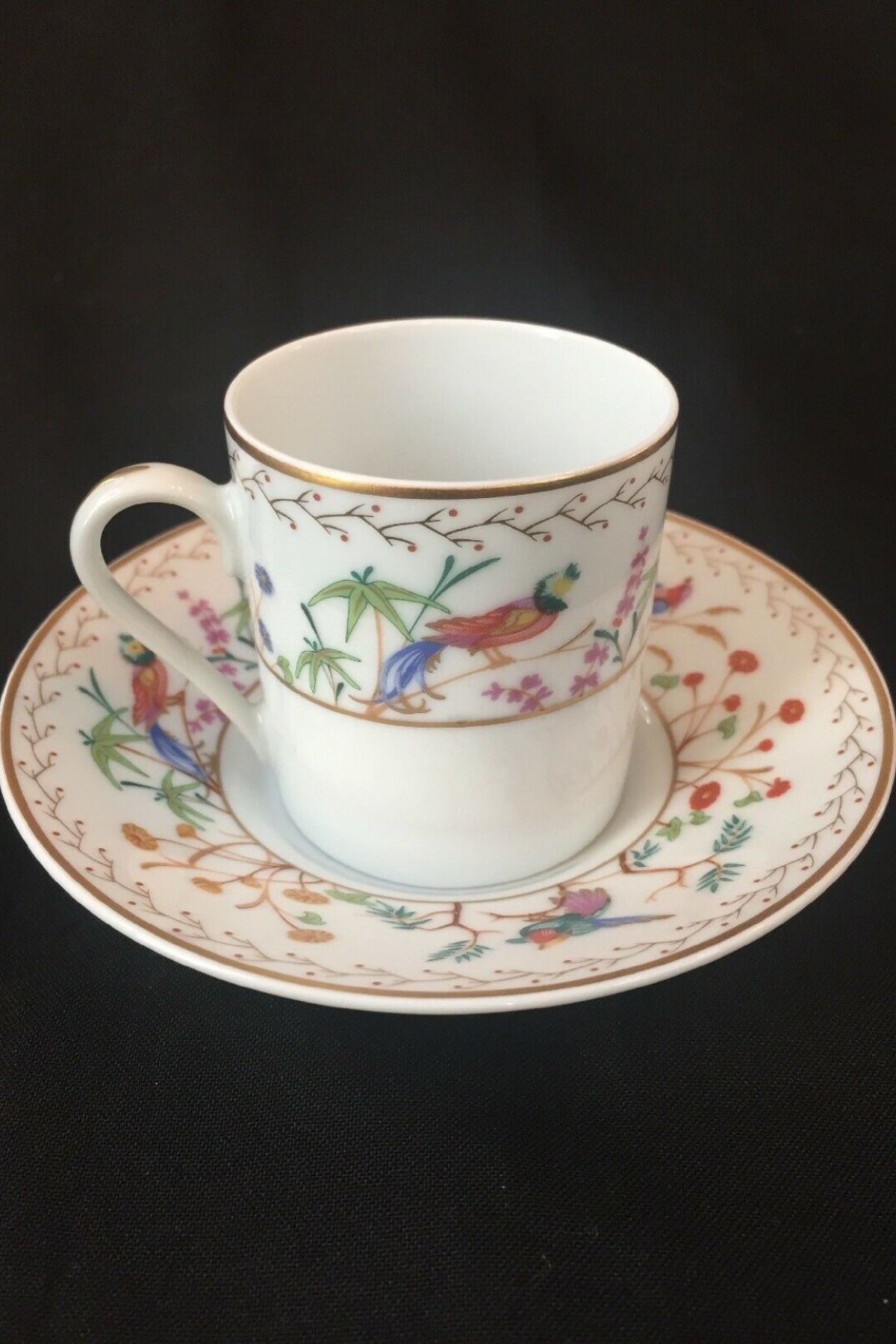 Tiffany Audubon Limoges Demitasse Cup And Saucer Tea Cups Vintage Tea Cups China Tea Cups