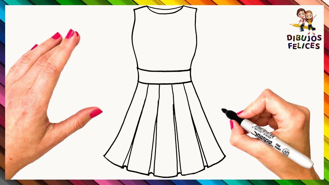 Como Dibujar Un Vestido Paso A Paso Dibujo De Vestido De Mujer Como Dibujar Vestidos Como Dibujar Ropa Vestidos Dibujo
