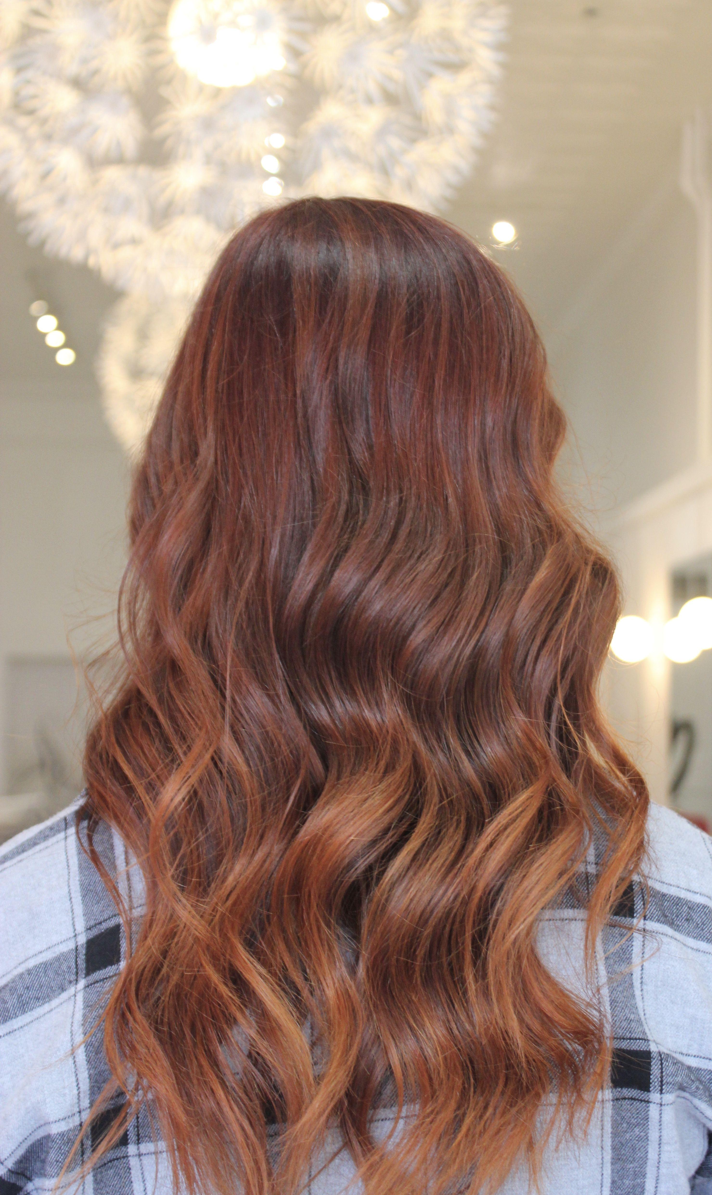 redhair balayage redbalayage auburn cinnamon fallhair stylist briighteyes_