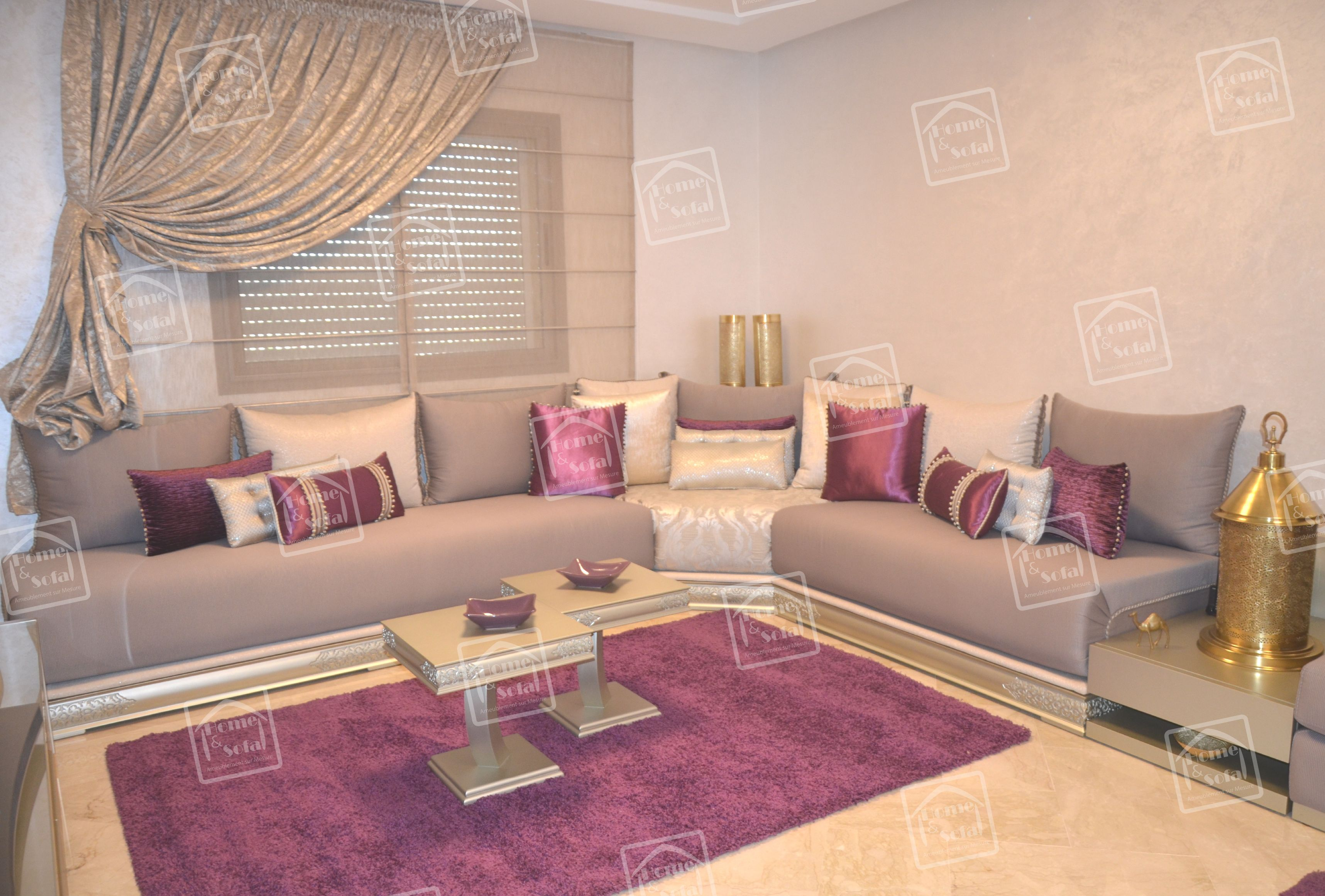 Home and Sofa - texture, agencements de couleurs et decoration