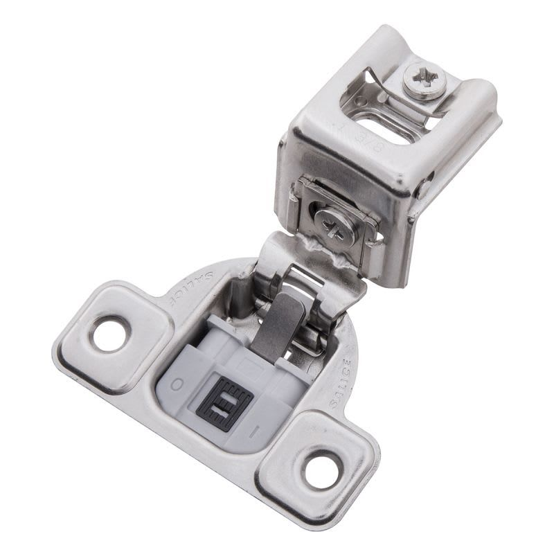 Hickory Hardware Hh74719 14 Bright Nickel 1 3 8 Inch Overlay Screw On Concealed European Cabinet Door Hinge With 95 Degree Opening Angle And Soft Close Function Face Frame Cabinets Hickory Hardware Overlay Hinges