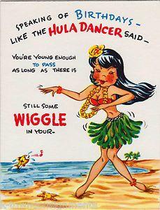 328a09067c8e22bc588b165ba6f0a81f hawaiian hula dancer pin up vintage graphic art humorous birthday