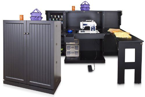 Original Scrapbox Sewing Box Storage Cabinet For Sewing Crafts And  Accessories Storage   Black: Http