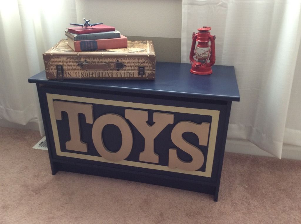 Aviation Themed Nursery Painted Toy Boxes Boys Toy Chest Aviation Themed Nursery