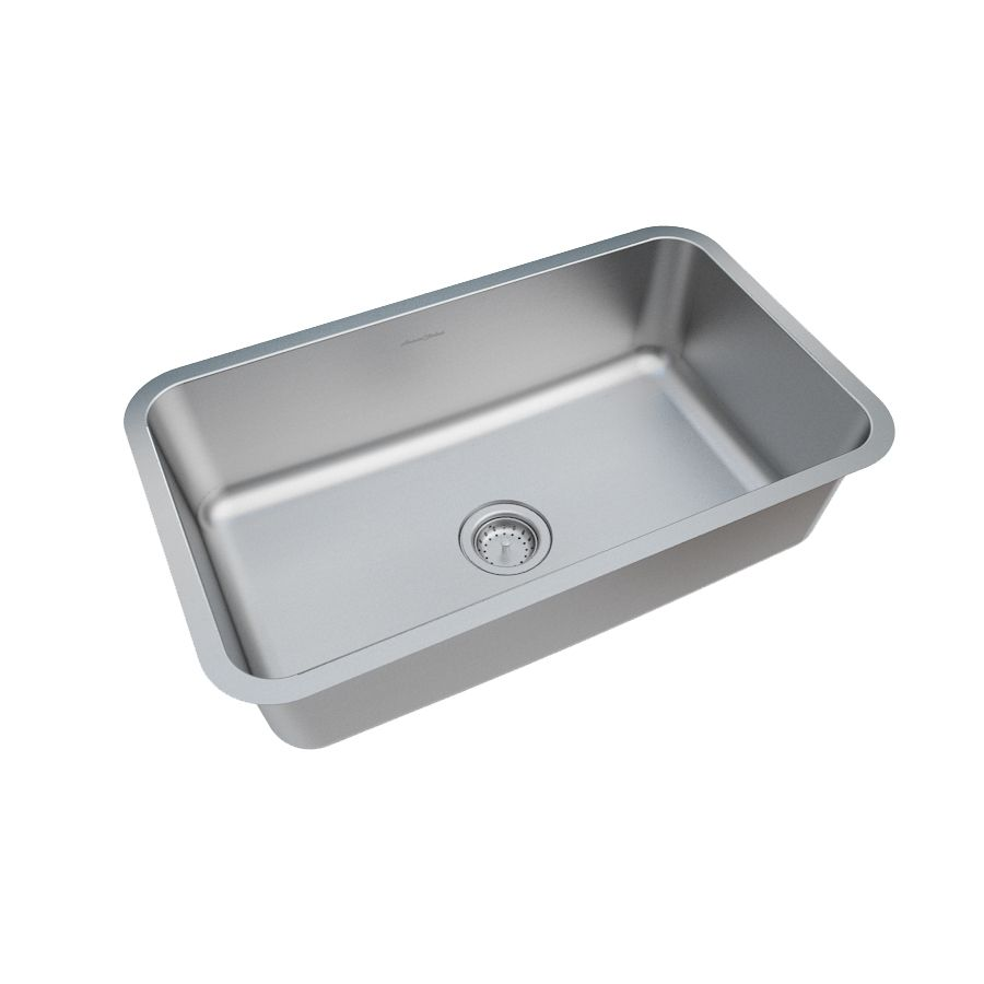 Shop american standard danville 30 in x 18 in stainless steel single basin undermount residential kitchen sink at lowes com