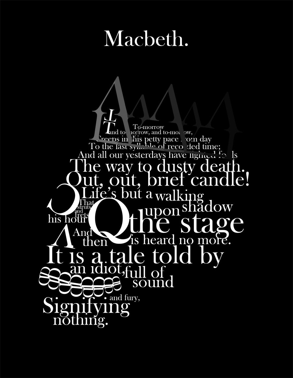 Shakespeare Forever Photo Literary Quote Out Brief Candle Quotes Macbeth Tomorrow Soliloquy Analysis Analysi