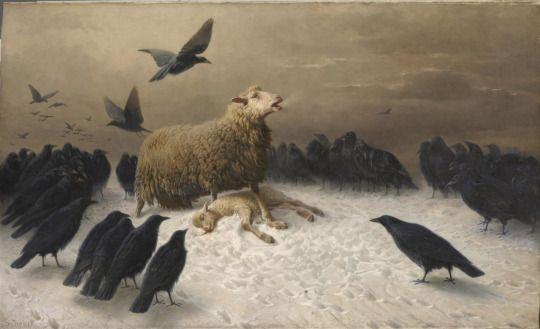August Friedrich Albrecht Schenck - Anguish - 1878