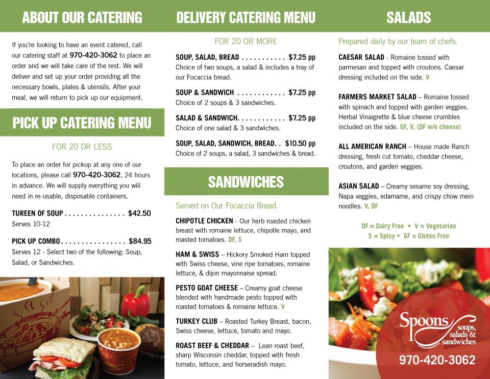 Spoons Catering MenuSpoons Catering Menu Catering menu
