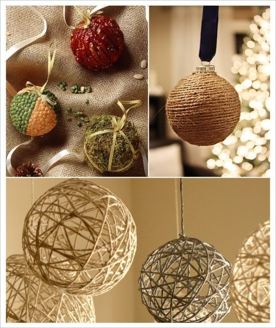 id es deco noel diy boule de sapin cordelette laine graines lentilles diynoel boueldesapindiy. Black Bedroom Furniture Sets. Home Design Ideas