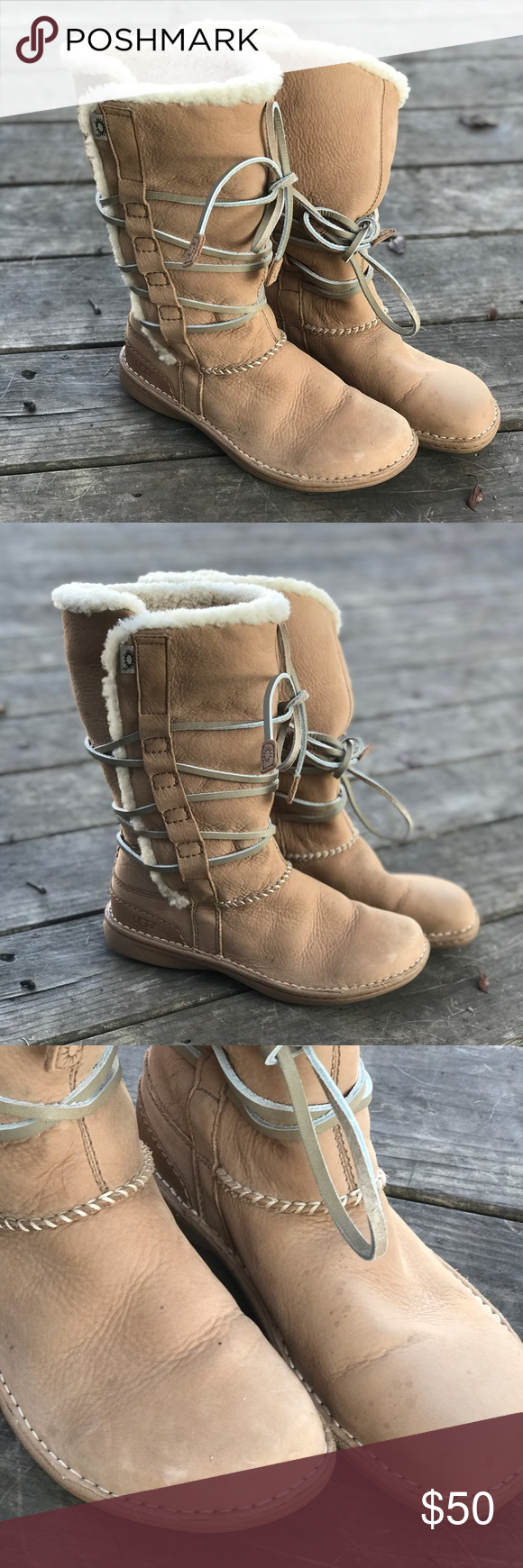 Cute tie up UGG boots. | Ugg boots