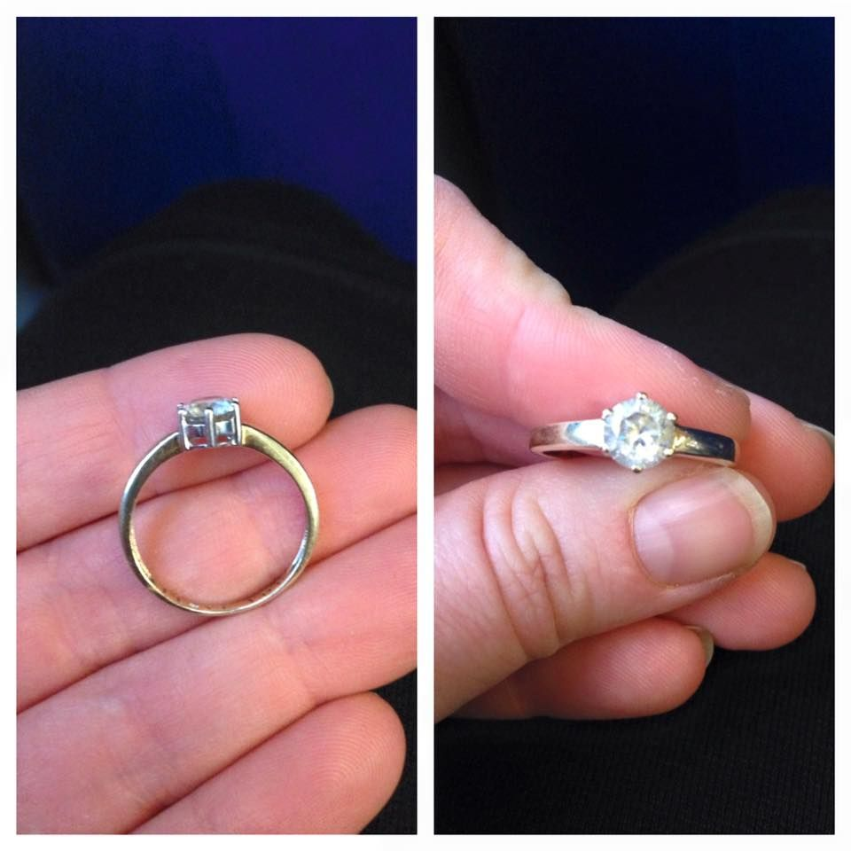 This engagement ring was found on the number 1 bus, the finder got ...
