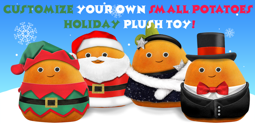 The Small Potatoes Magic Toy Maker app is available on #GooglePlay. Design your own Small Potatoes plush toy and have it delivered directly to you! - #smallpotatoes https://play.google.com/store/apps/details?id=com.fatredcouch.animalmagic.magictoymaker.smallpotatoes.android