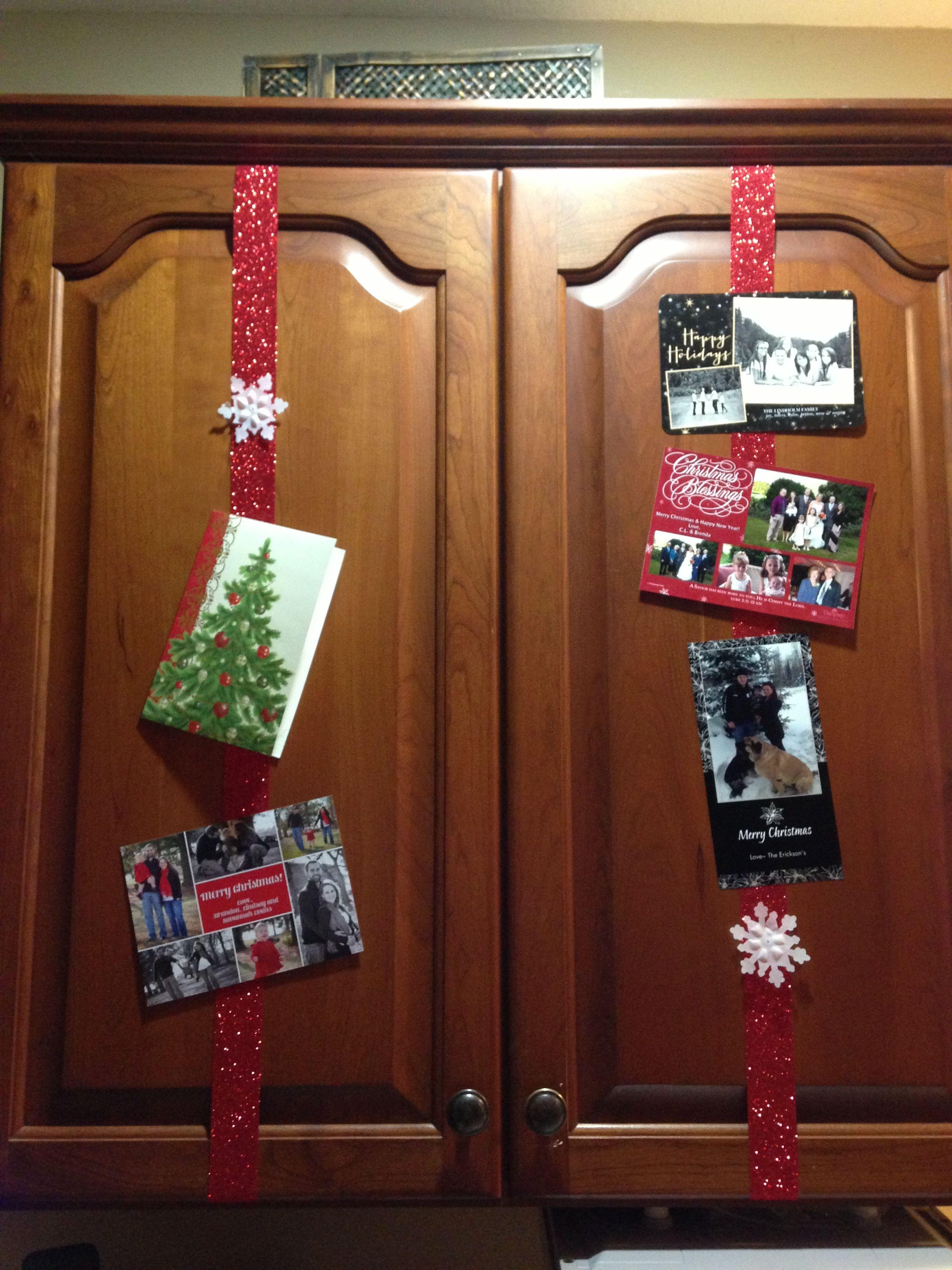 Christmas kitchen cabinet decoration