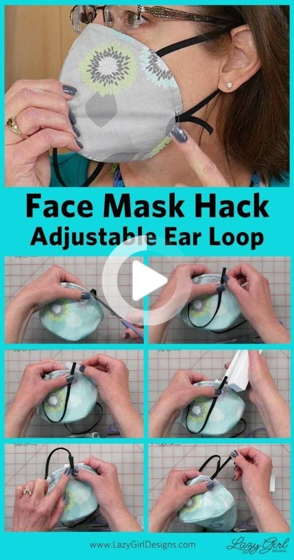 Photo of Easy No-Sew Face Mask Hack: Adjustable Elastic Ear Loops