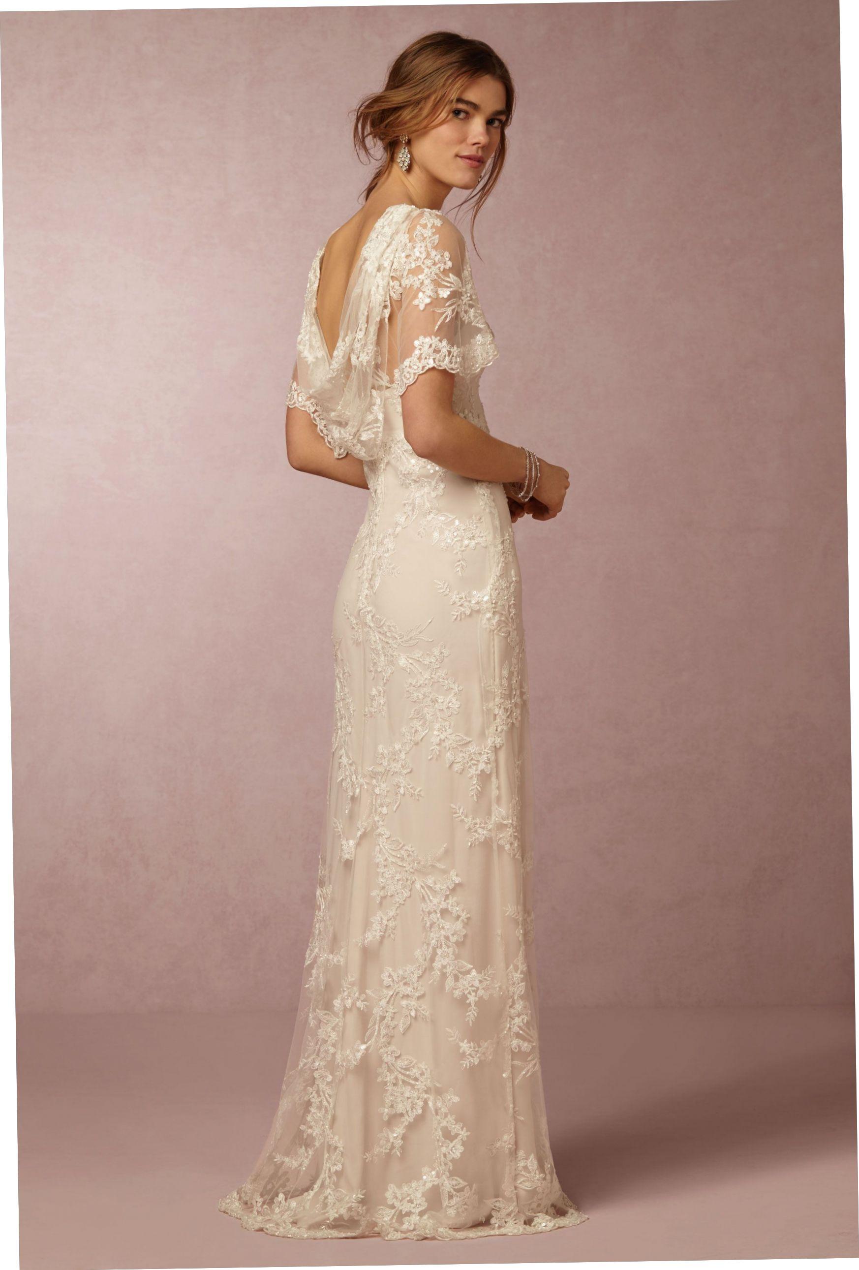 Anthropologie Wedding Dresses  Short sleeve bridal gown, Bridal