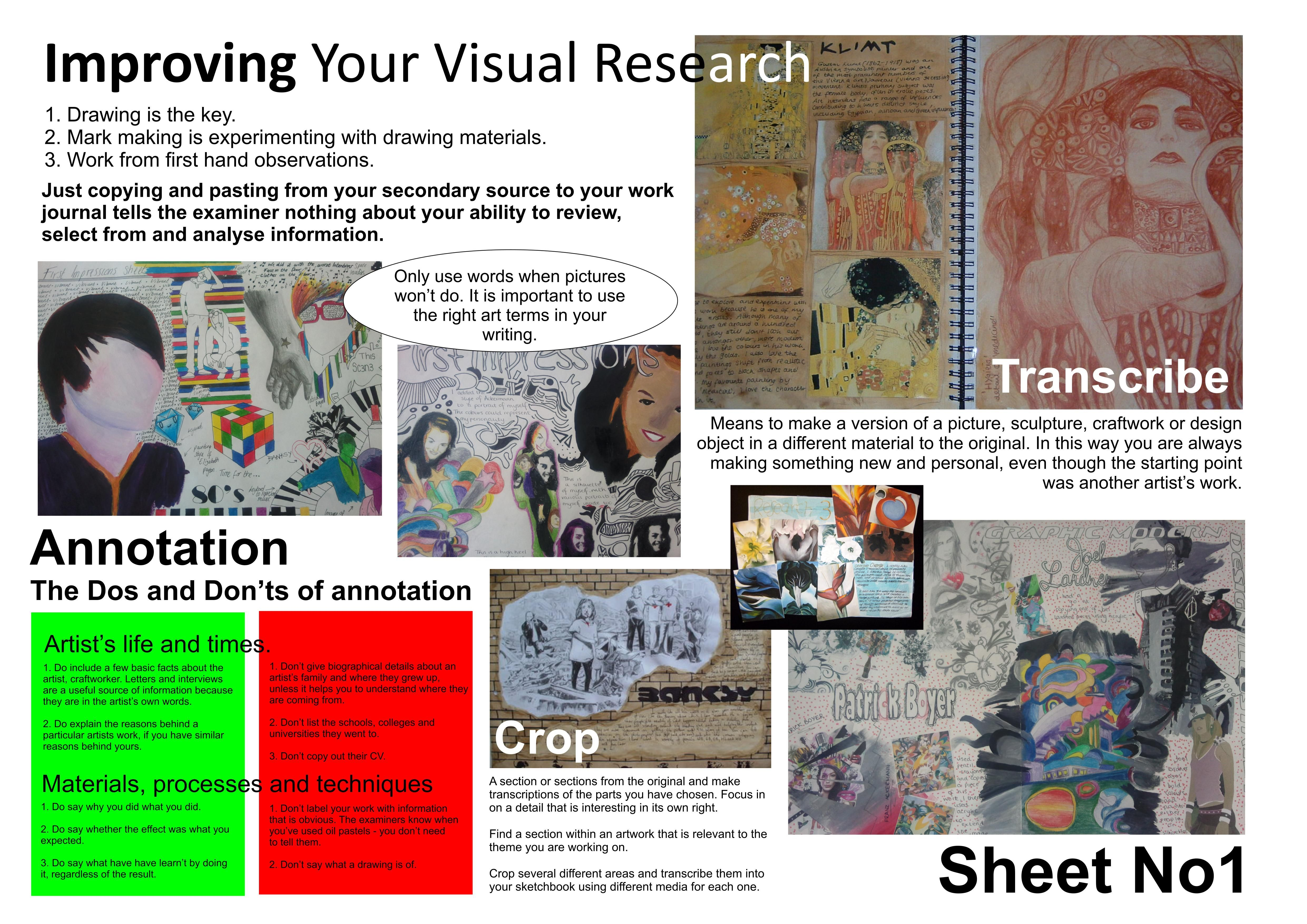 Ks4 Visual Research Help Sheet