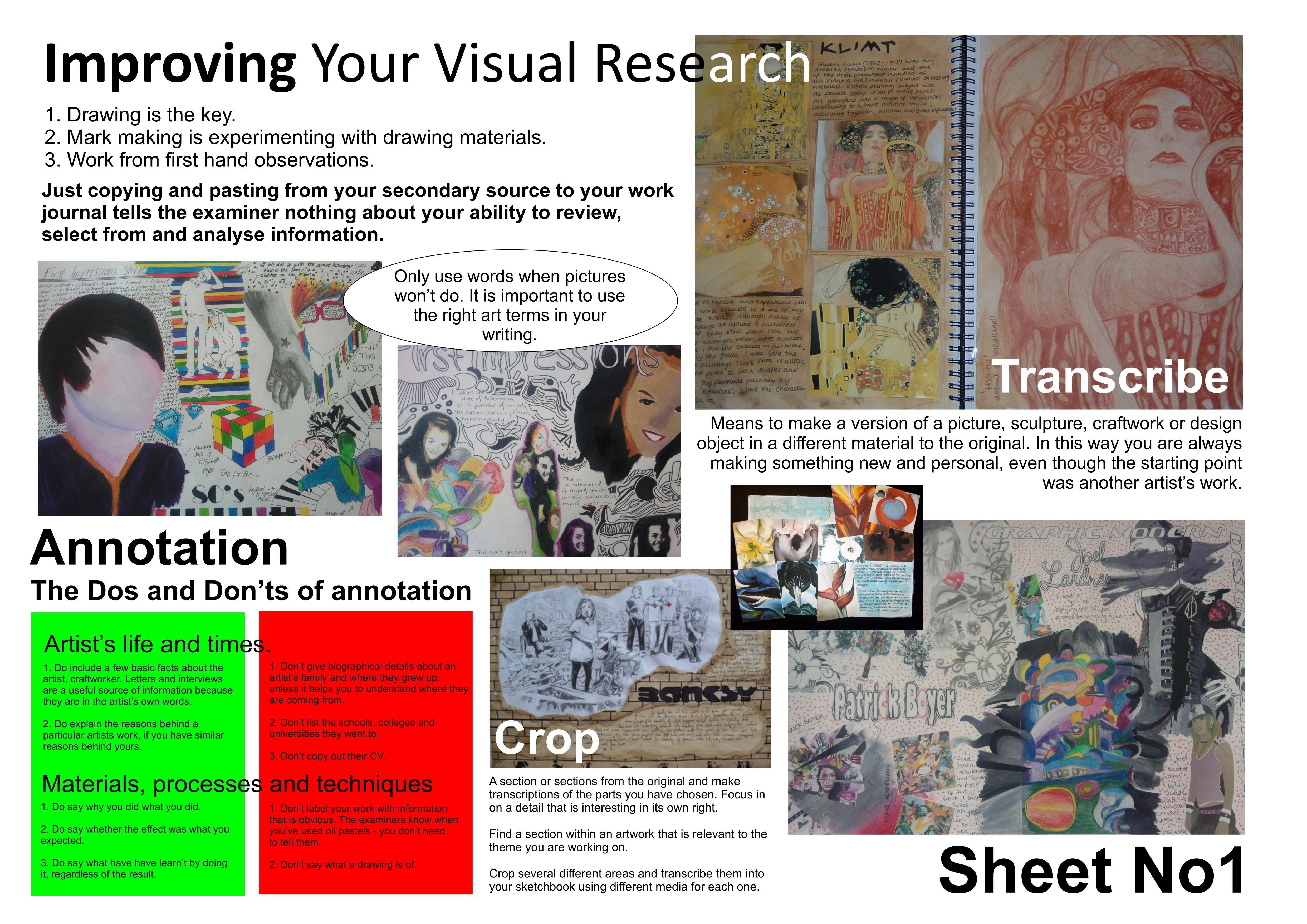 Ks4 Visual Research Help Sheet