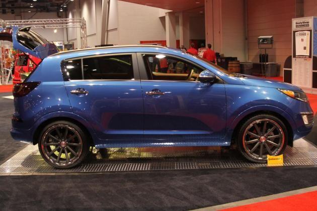 Custom Blue Sportage